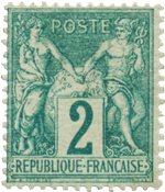 Frankrig 1876 -  YT 62 - Ubrugt