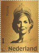 Nederland - Queen Maxima gold postzegel24 carat - Postfrisse postzegel in box