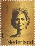 Nederland - Queen Maxima gold postzegel24 carat - Postfrisse postzegel in box