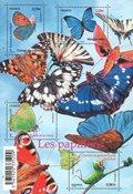 France - Papillons - Bloc-feuillet spécial avec surface lacquée