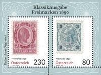 Autriche - Timbres-poste 1890 - Bloc-feuillet neuf