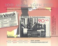 Autriche - Droit de vote des femmes - Bloc-feuillet neuf