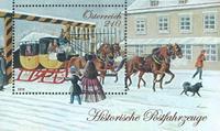 Autriche - Véhicules de poste historiques - Bloc-feuillet neuf