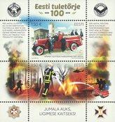 Estonie - Sapeurs Pompiers 100 ans - Bloc-feuillet neuf