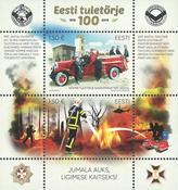 Estland - Brandvæsen 100 år - Postfrisk miniark