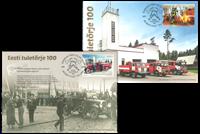 Estonie - Sapeurs Pompiers 100 ans - Cartes Maximum