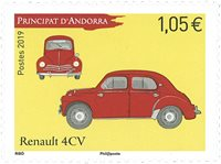 France - Renault 4 CV - Timbre neuf