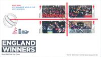England - Damer VM cricket - Førstedagskuvert miniark