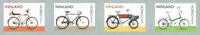 Norvège - Bicyclettes - Série neuve 4v