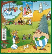 France - Asterix 2009 - Mint sheetlet with stone surface