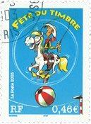 Frankrig - Lucky Luke - Stemplet frimærke