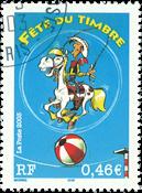 France - Lucky Luke - Timbre obl.