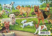 France - Espèces de chiens - Bloc-feuillet avec 8 espèces de chiens