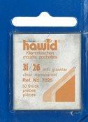 Hawid klemlommer - 31 x 26 mm klar - Blå pakning