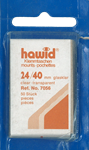 Hawid klemlommer - 24 x 40 mm klar - Blå pakning