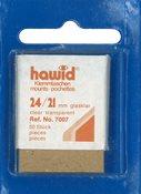 Hawid klemlommer - 24 x 21 mm klar - Blå pakning