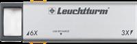 Loupe de poche extractible à LED DUPLEX avec grossissement x 3 et x 6, rechargeable