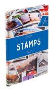 Classeur STAMPS A5, 16 pages blanches, couverture non ouatinée et colorée (banderole)
