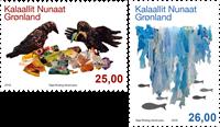 Grønland - Miljø - Postfrisk sæt 2v