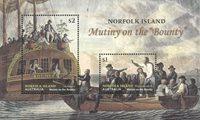 Norfolk Islands - Mutiny on Bounty - Mint souvenir sheet