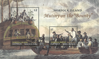 Îles Norfolk - Mutinerie du Bounty - Bloc-feuillet neuf