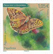 French Andorra - Butterfly - Mint stamp