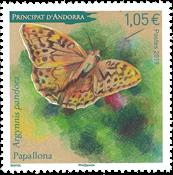 Andorre Francais - Papillon - Timbre neuf