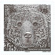 French Andorra - Bear - Mint stamp