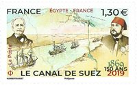 Frankrig - Suez-kanalen - Postfrisk frimærke