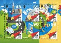 Guernesey - Le cinquantenaire de l'indépendance postale - Bloc-feuillet neuf