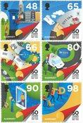 Guernesey - Le cinquantenaire de l'indépendance postale - Série neuve 6v