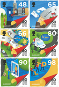 Guernesey - 50 aniv. Independencia Postal - Serie 6v. nuevo