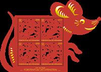 Liechtenstein - Année du rat - Bloc-feuillet découpé