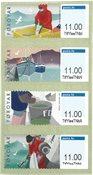 Færøerne - Frankeringsmærker Kystfiskeri - Postfrisk sæt 4v