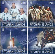 Îles Pitcairn - Alunissage - Série neuve 4v