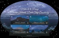 Îles Pitcairn - Ciel noir - Bloc-feuillet neuf