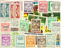 Denmark - Duplicate lot railway stamps