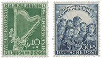 Berlin 1950 - Michel 72-73 - Ubrugt