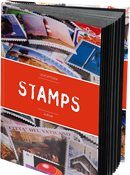 Classeur STAMPS A5, 32 pages blanches, couverture non ouatinée et colorée (banderole)
