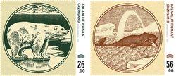 Gamle grl. pengesedler III - Postfrisk - Sæt