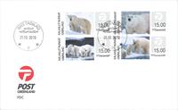 Grønland - Frankeringsetiketter 2019 - Førstedagskuvert