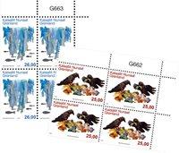 Miljø i Grønland III - Postfrisk - 4-blok øvre marginal