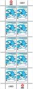 50-året for FN's postdag - Postfrisk - Helark