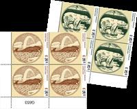 Gamle grl. pengesedler III - Postfrisk - 4-blok nedre marginal