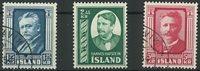Islande - AFA 294-96 série obl.