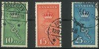 Danmark - AFA 178-80 stemplet