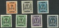 Danemark - Timbres provisoires AFA 160-66 neufs sans ch.