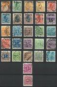 Danmark - Sæt af stemplede portomærker