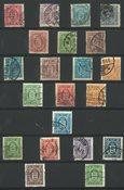 Danemark - Lot avec des timbres service