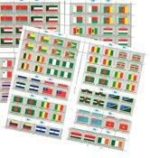 FN - 12 postfriske flagark med 16 frimærker